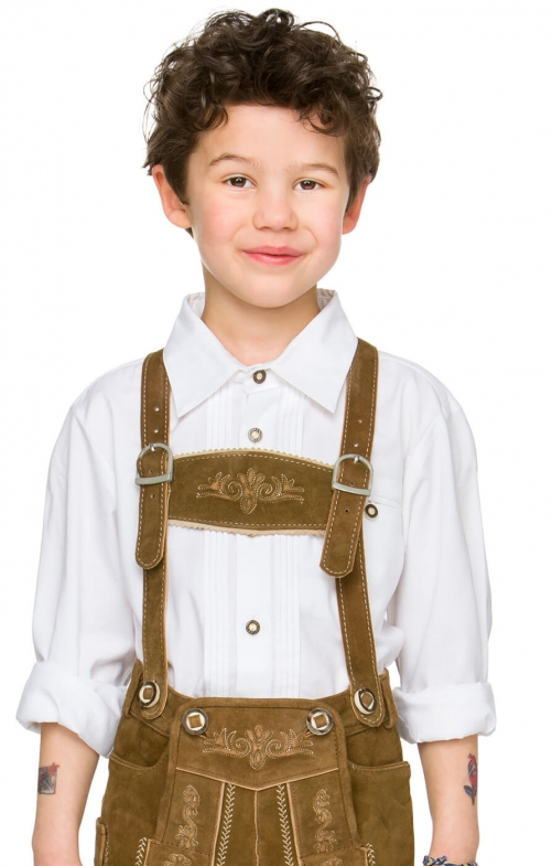 Children traditional shirt RIO white