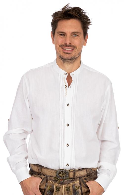 Stehkragenhemd JONAS weiß natur