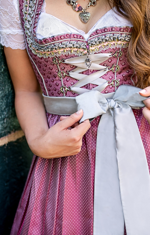 Mini Dirndl 2pcs. 58 cm MIRENa lightberry silver