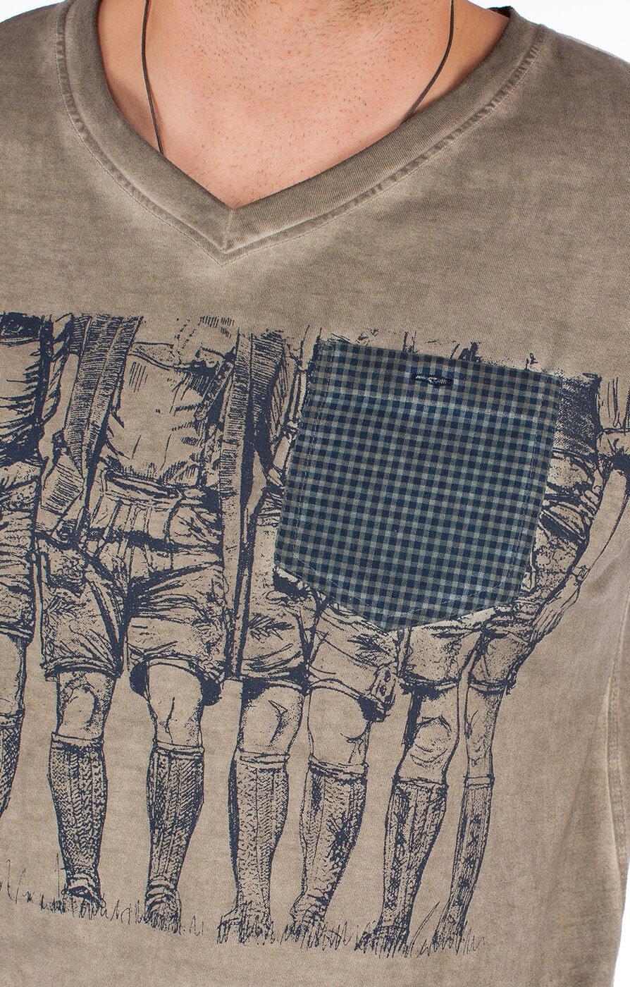 weitere Bilder von Traditional German T-Shirt 92200-44 taupe