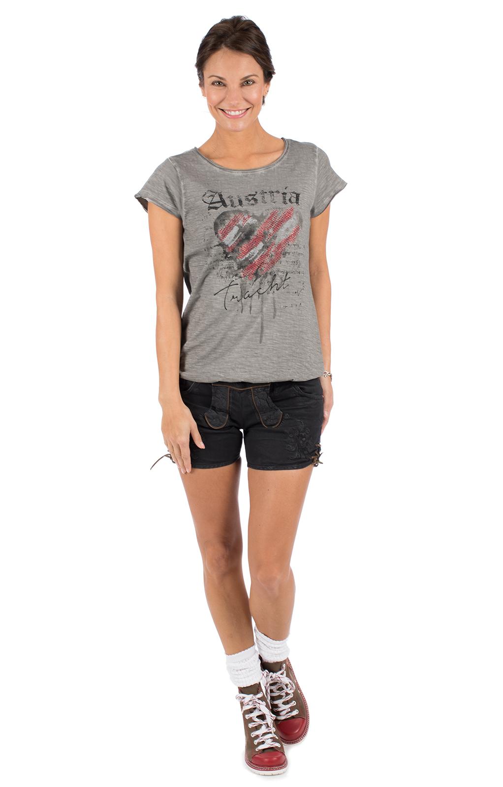 weitere Bilder von Trachten T-Shirt INKA Austria grau