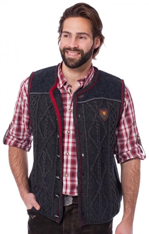 German knitted waistcoat DURBAN dark gray
