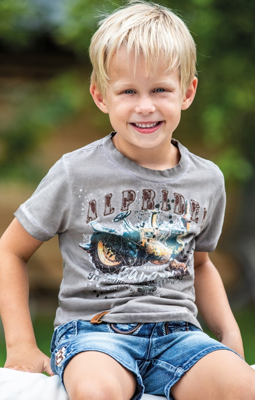 Kinder T-Shirt L06 - FLORIAN KIDS moonrock oliv
