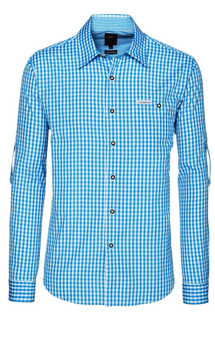 weitere Bilder von German traditional shirt checkered Campos2 turquoise