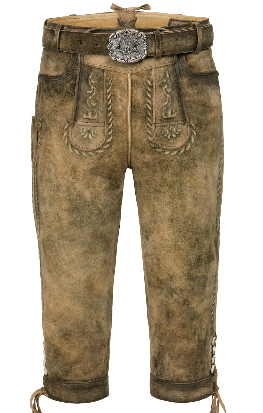 weitere Bilder von German leather trousers with belt knee JOHANN korn brown