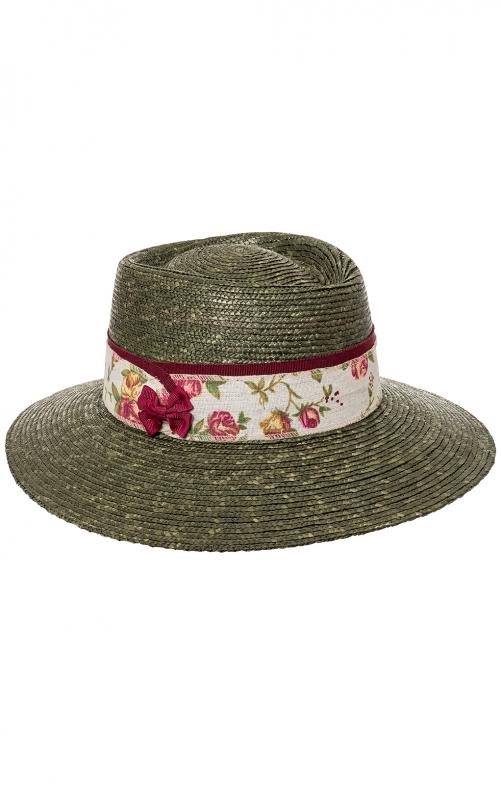 Trachten Hats 40500 olive bordeaux