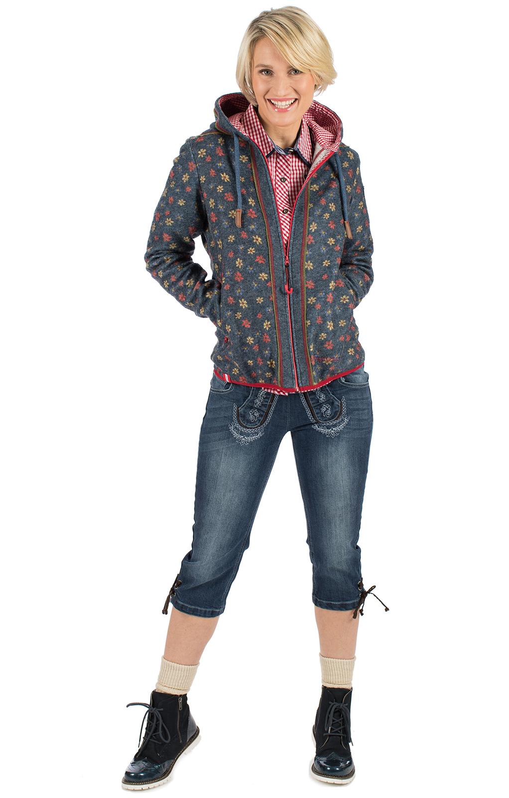 weitere Bilder von Trachtenjacke Hoody SCHWARZWAND jeansblau
