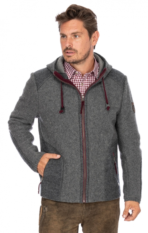 German traditional jacket MARBURG medium gray