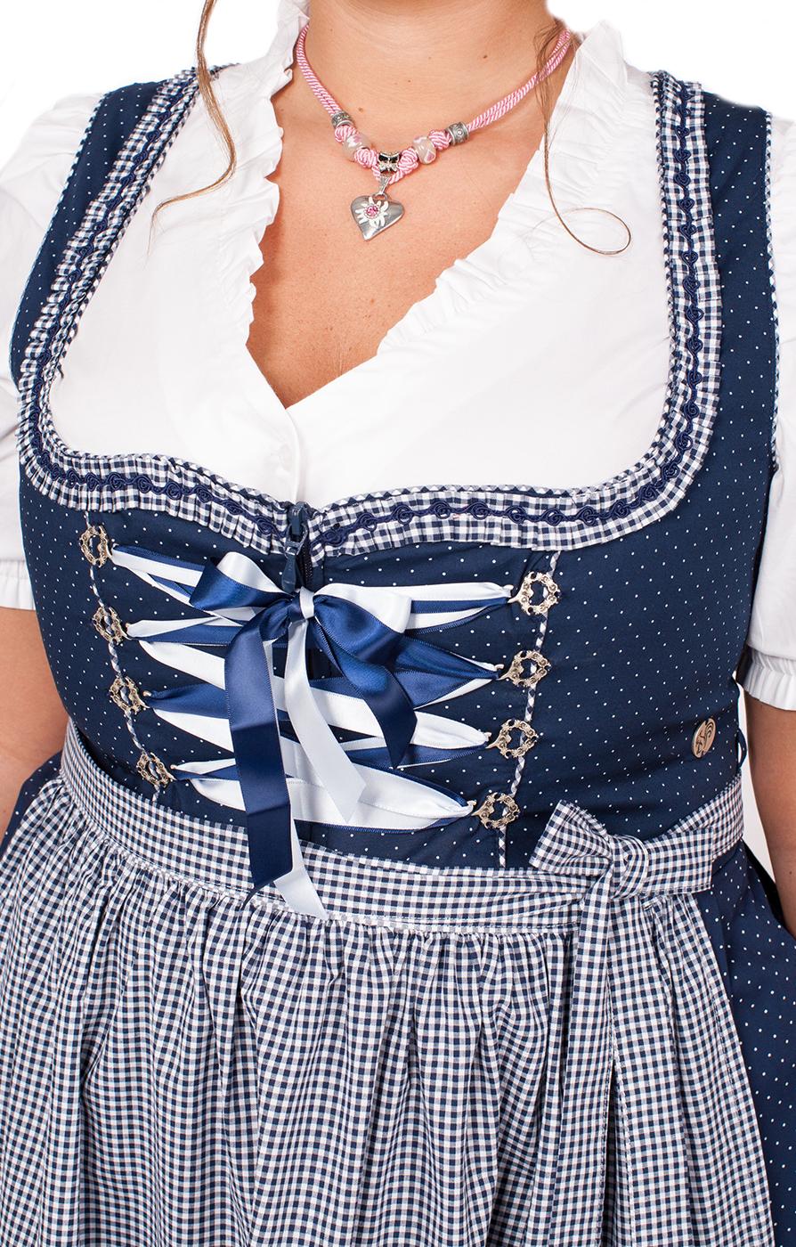 weitere Bilder von Mididirndl Miriam 2tlg. 58cm PLUS SIZE blau