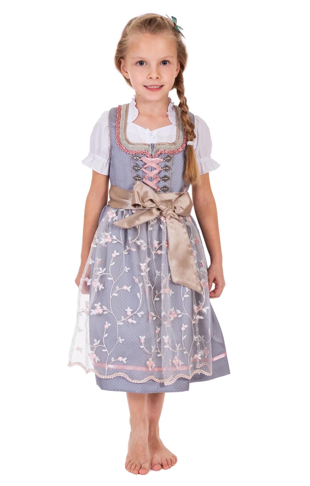 weitere Bilder von Kinderendirndl SILENA lichtgrijs