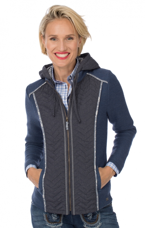 Traditional Outdoorjaket HAMELN Walk/Stepp with jeans blue