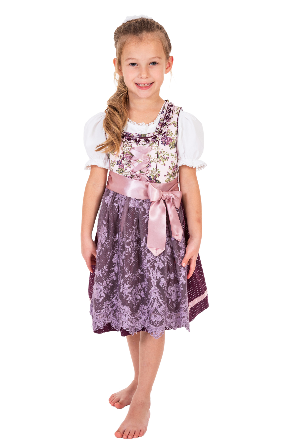 weitere Bilder von Traditional Children dirndl DANNILEIN-KIDS mauve blackberry