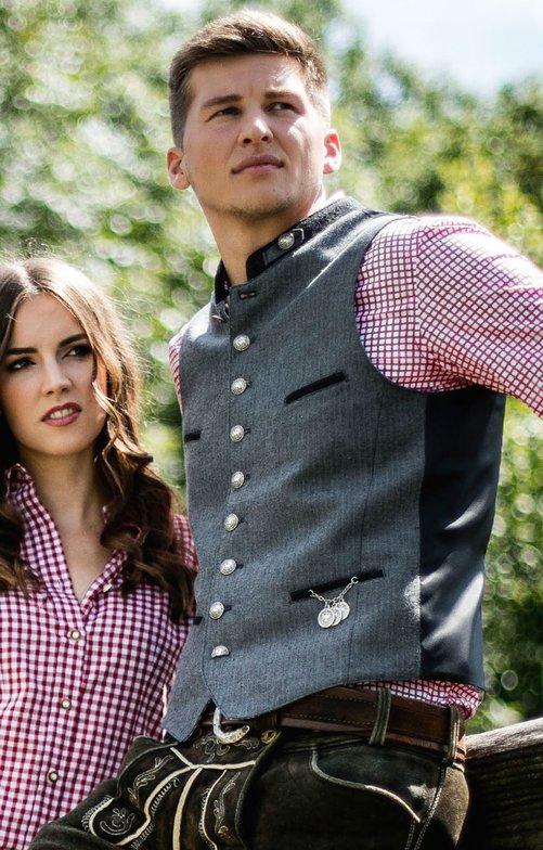 Traditional waistcoat KIMI gray