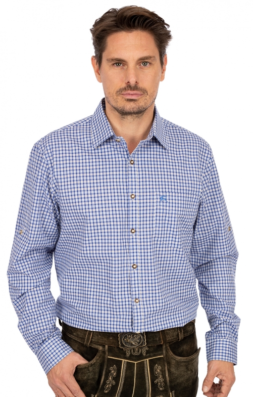 German traditional shirt ALBSTADT blue