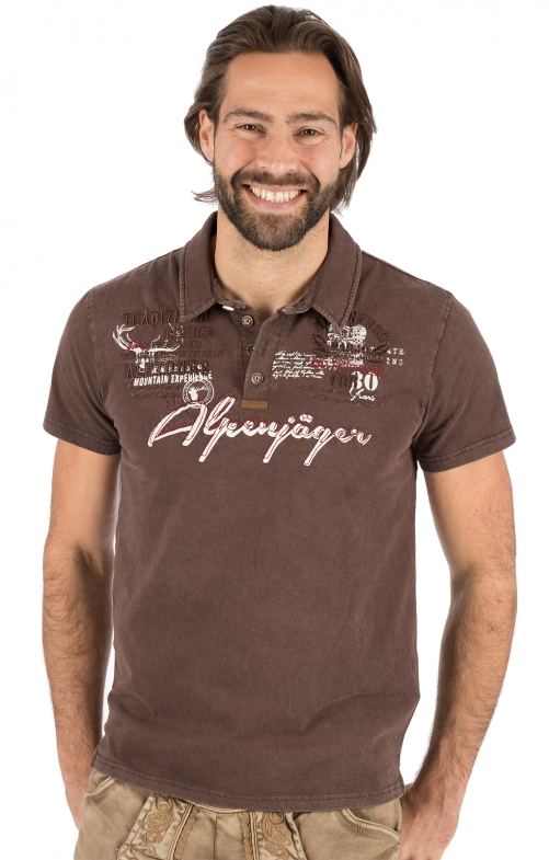 Costumes T-shirt E09 - ALPENJAEGER brown