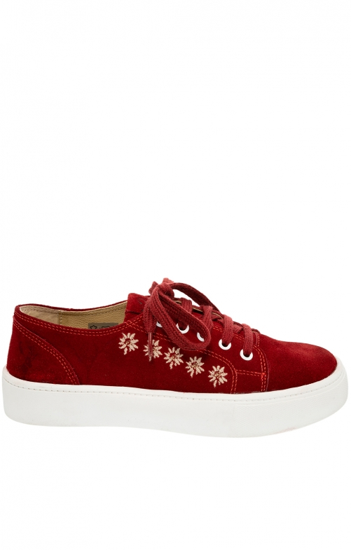 Trachten shoe D102 Ludmilla red Crosta