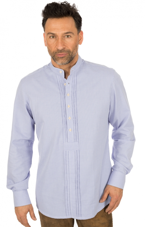 German traditional shirt Pfoad GRATANO blue