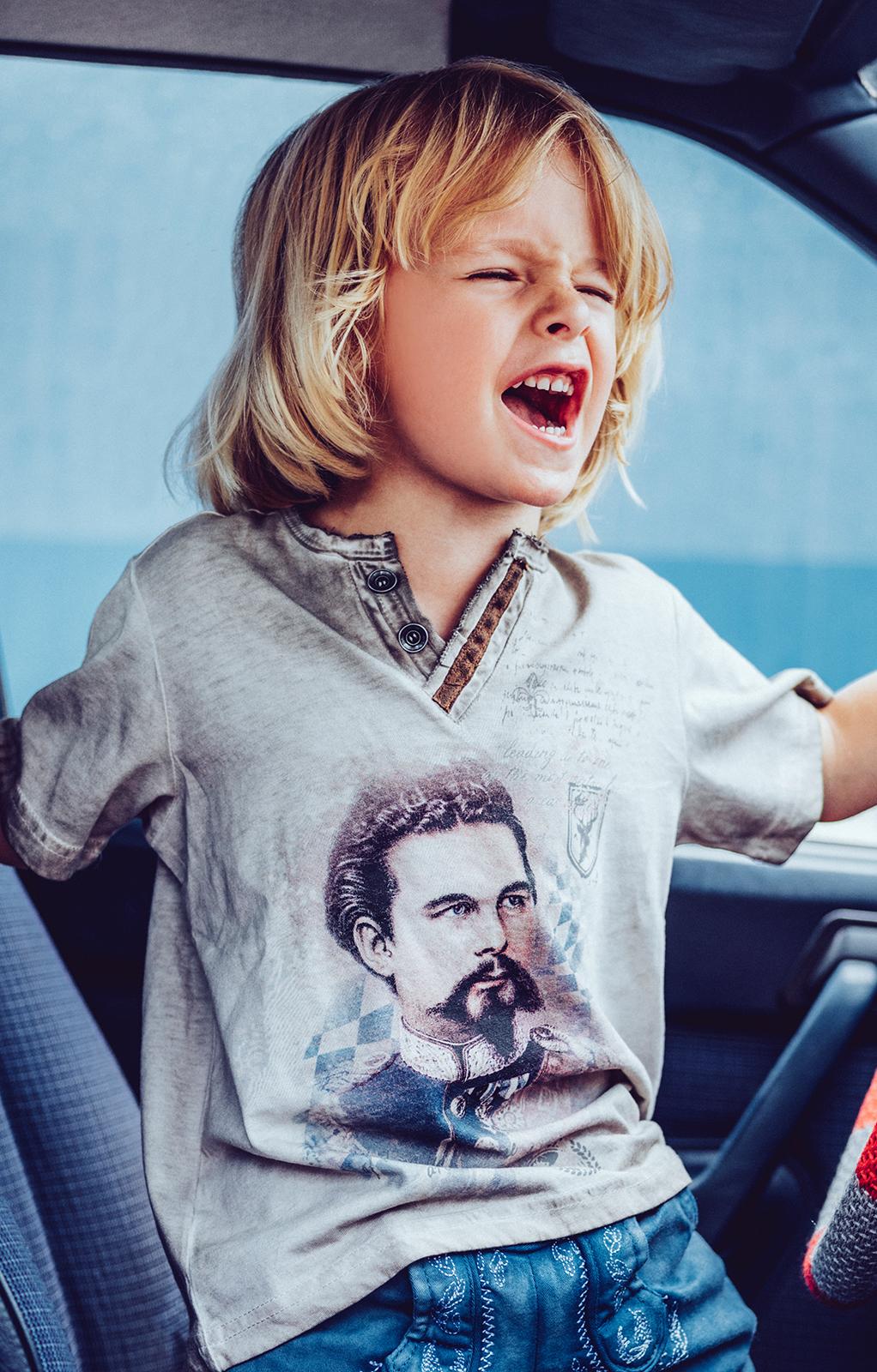 AR T-Shirt ALMONT Kids beige von Hangowear