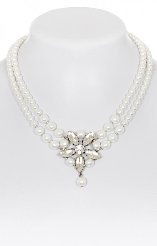 Perlencollier 4035 weiß