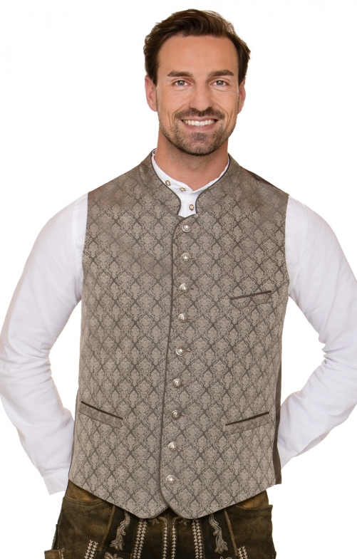 Traditional waistcoat Benito brown