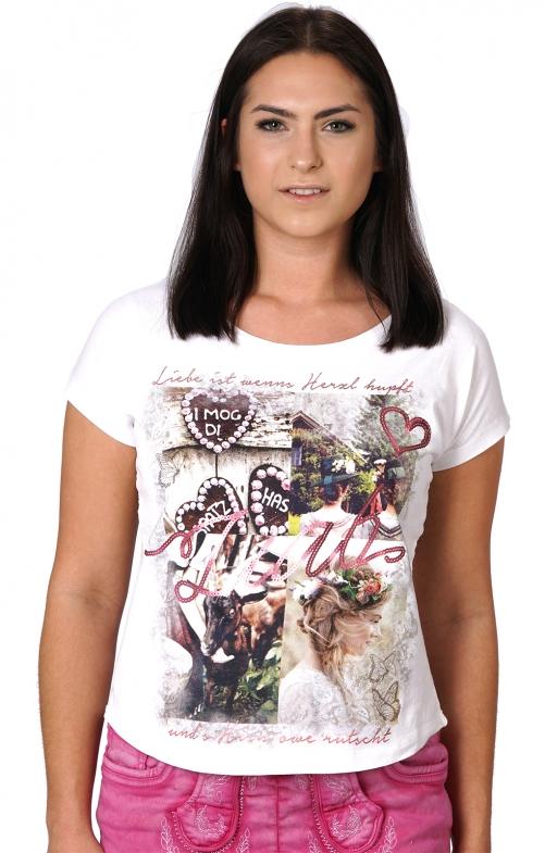 Trachten T-Shirt ISKA weiß Nostalgie
