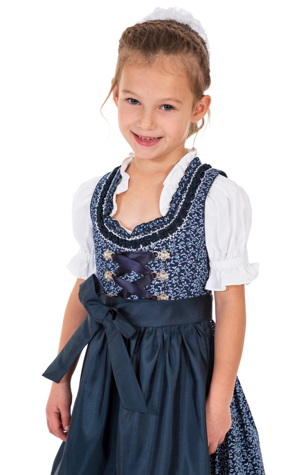 Traditional Children dirndl DOMENICA-KIDS blue von Marjo