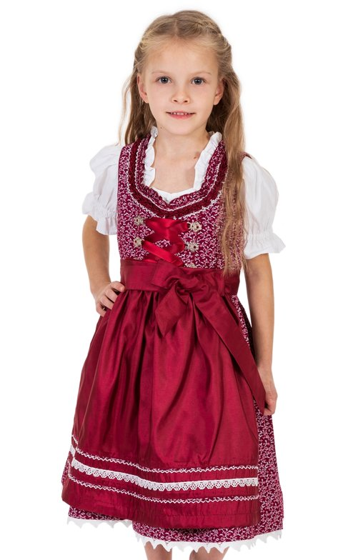 Traditional Children dirndl DOMENICA-KIDS bordeaux