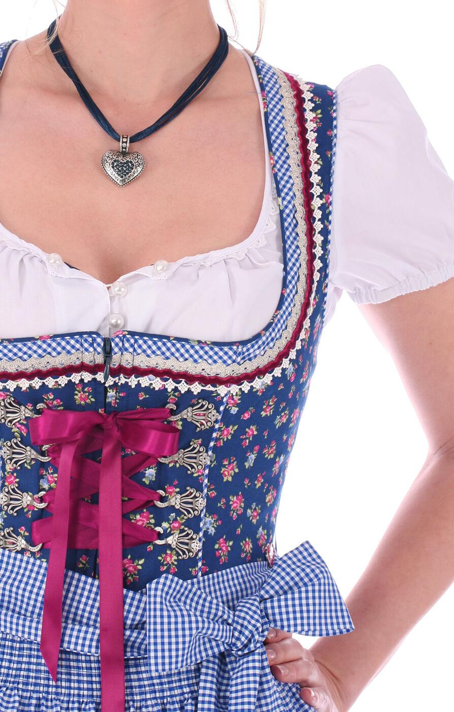weitere Bilder von Mididirndl 60cm 2tlg. Vienna blau