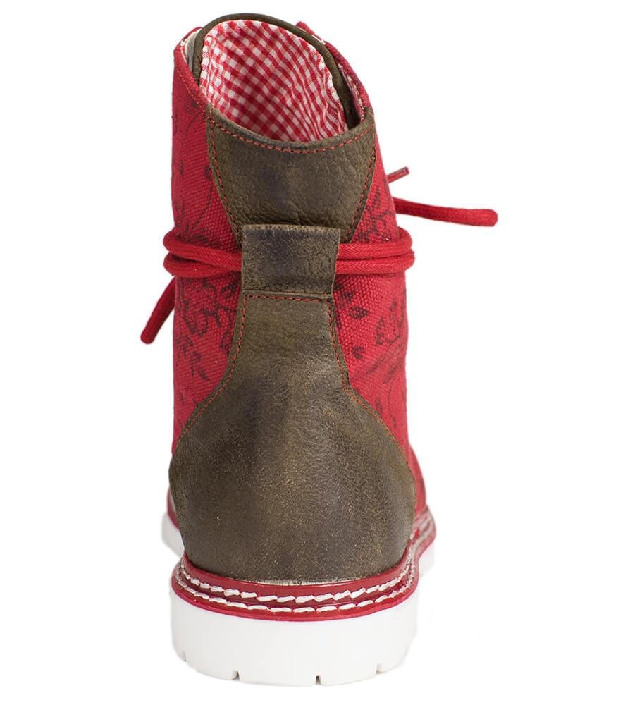 weitere Bilder von Traditional bootee D469 Janina red rustik