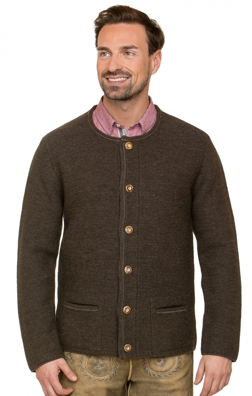 Traditional german cardigan MAGNUS4 brown