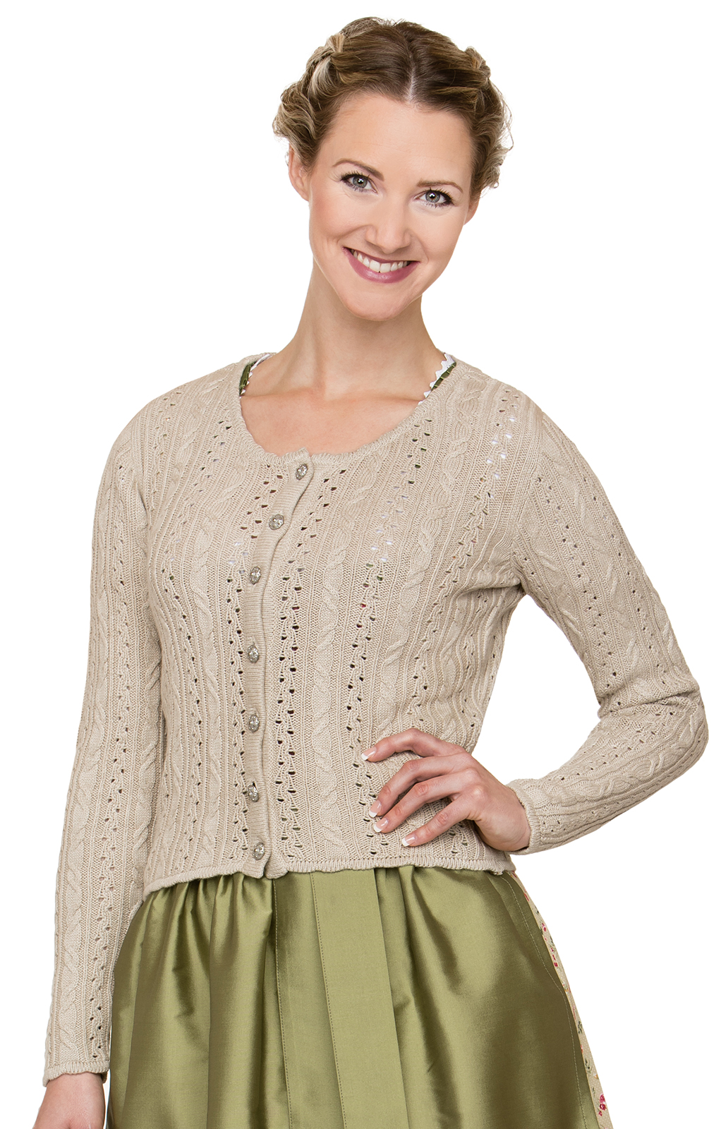 Strickjacke LIZ natur von Stockerpoint