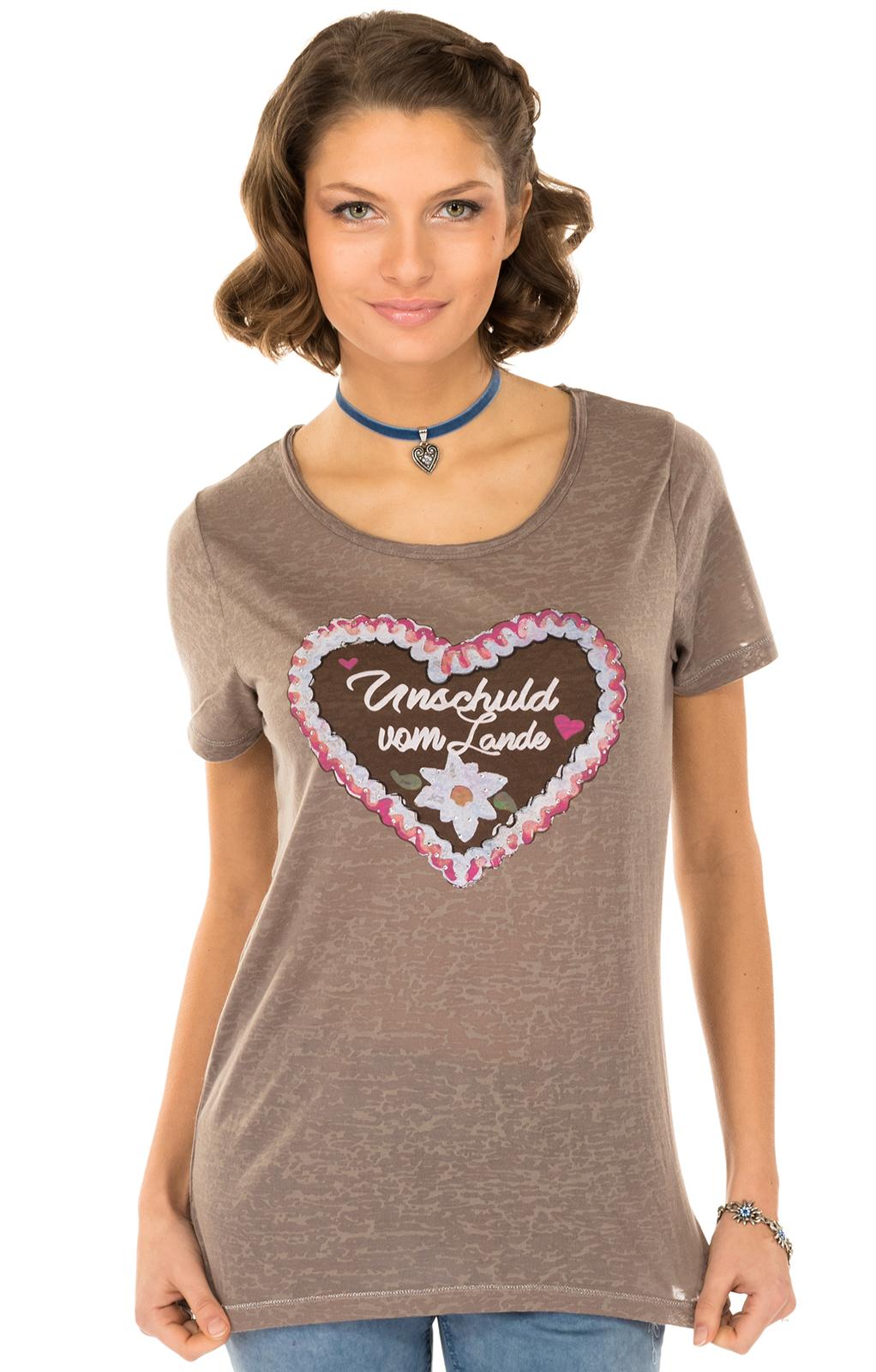 Trachten T-Shirt ANTARES funghi Herzmotiv von Hangowear