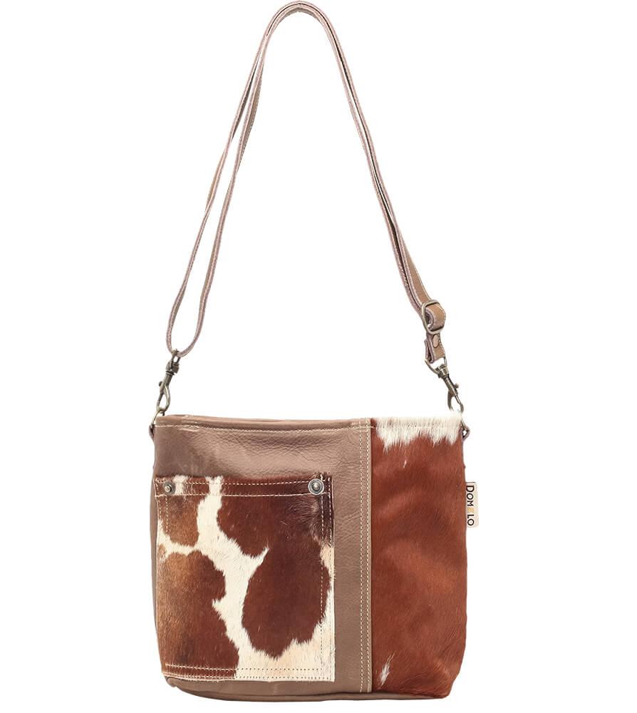 Trachtentasche TA53028 braun mit Echt Kuhfell von Schuhmacher