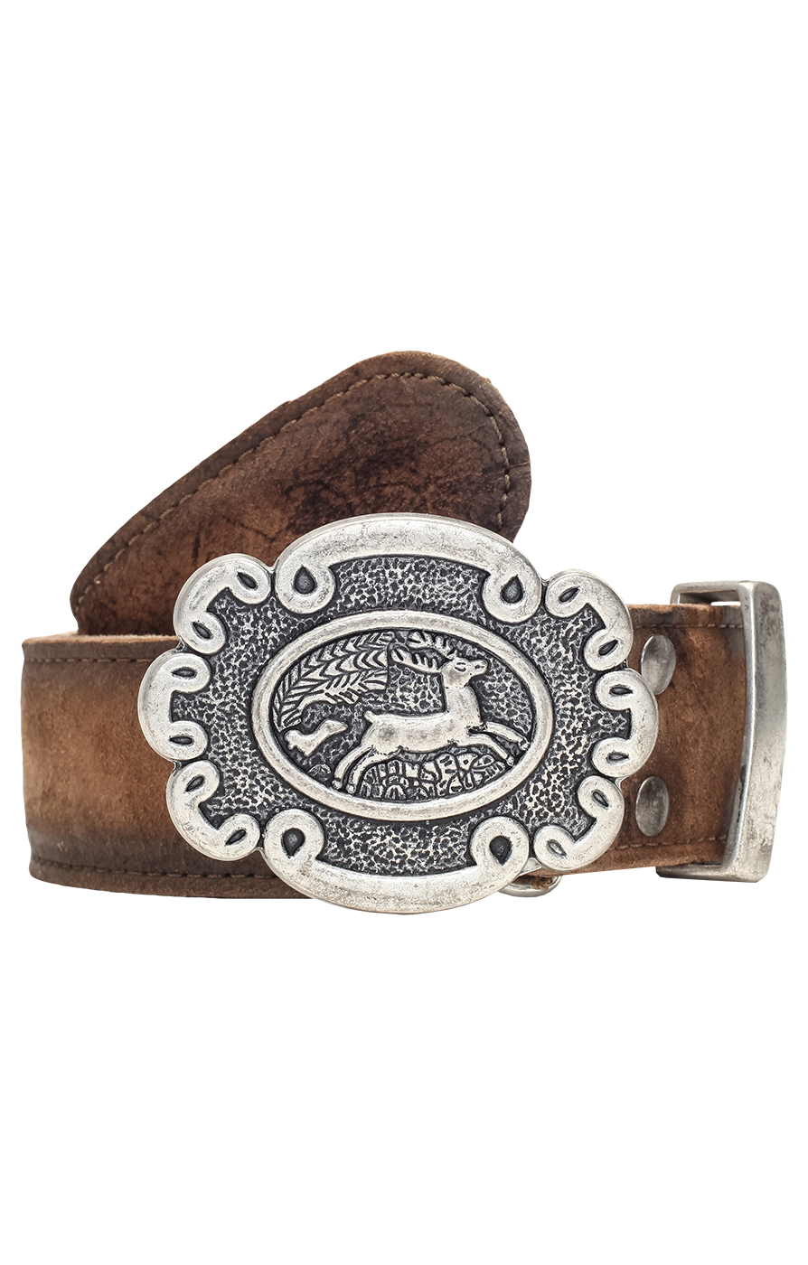 Traditional leather belt GO65 deer von Stockerpoint