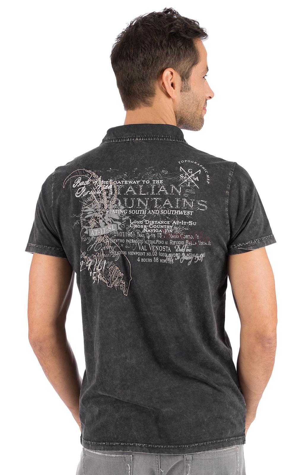 weitere Bilder von Trachten T-Shirt ODOARDO anthrazit