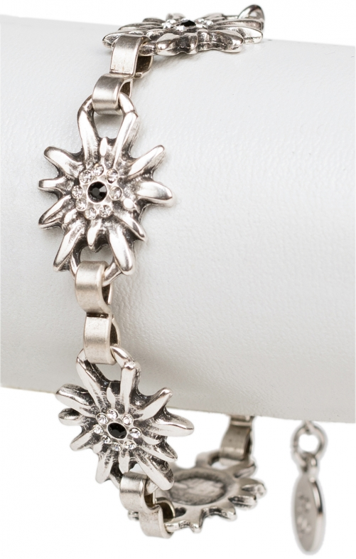 Bracelet with edelweiss kristall