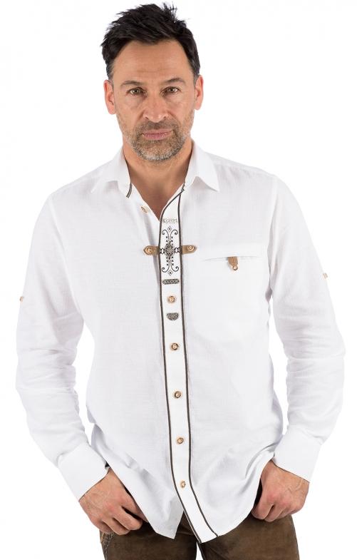 Trachtenhemd TIM weiss