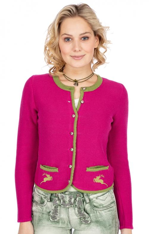 Strickjacke LUCY pink grün