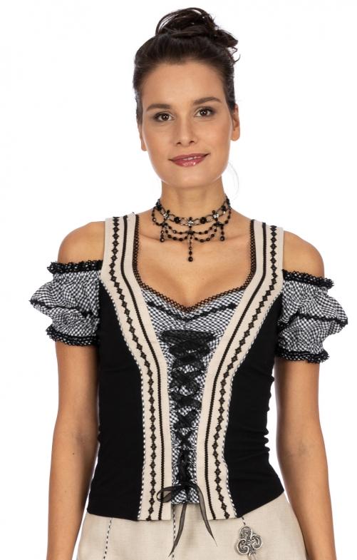 Landhaus Shirt NICOLE-DEBBIE schwarz karo