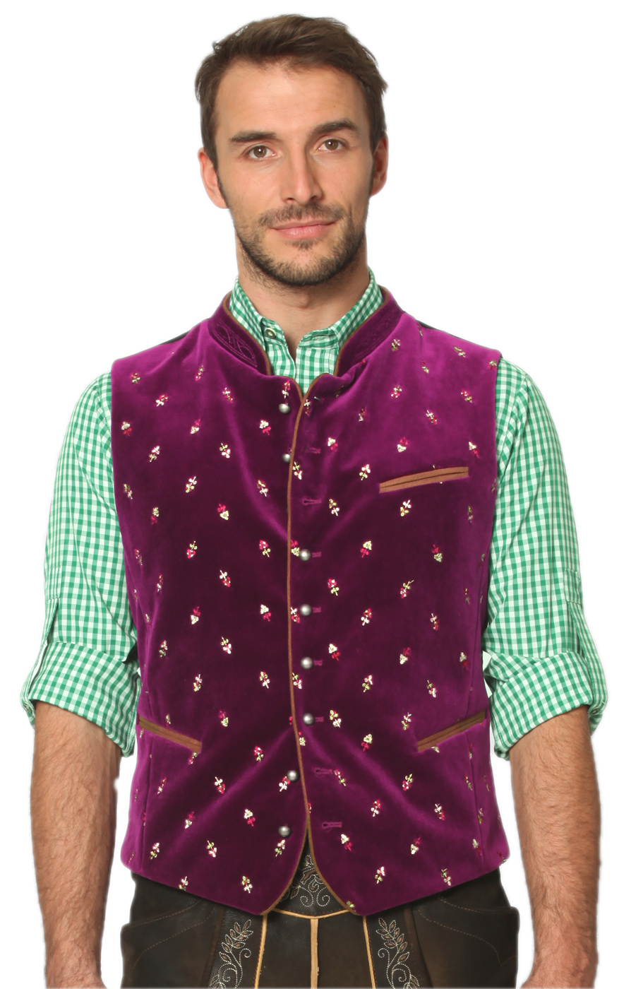 Traditional waistcoat Calzado purple von Stockerpoint
