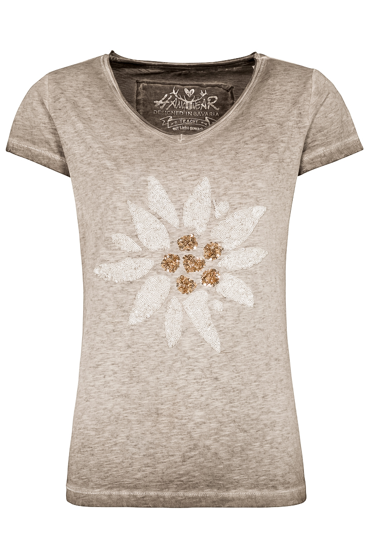 weitere Bilder von Trachten T-Shirt MISSY grau Edelweiss