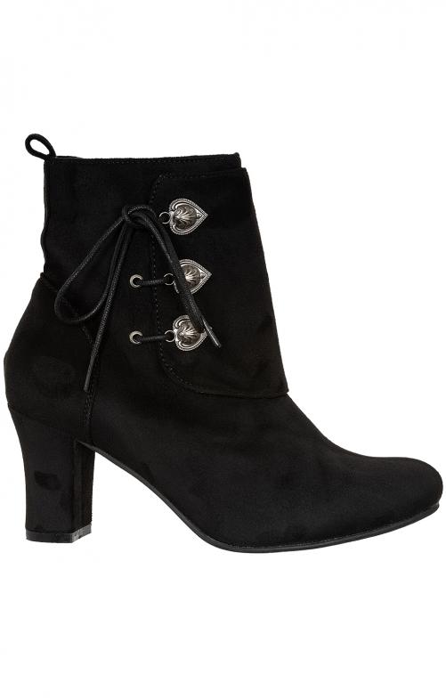 Stiefelette Velour 3612711-2 black