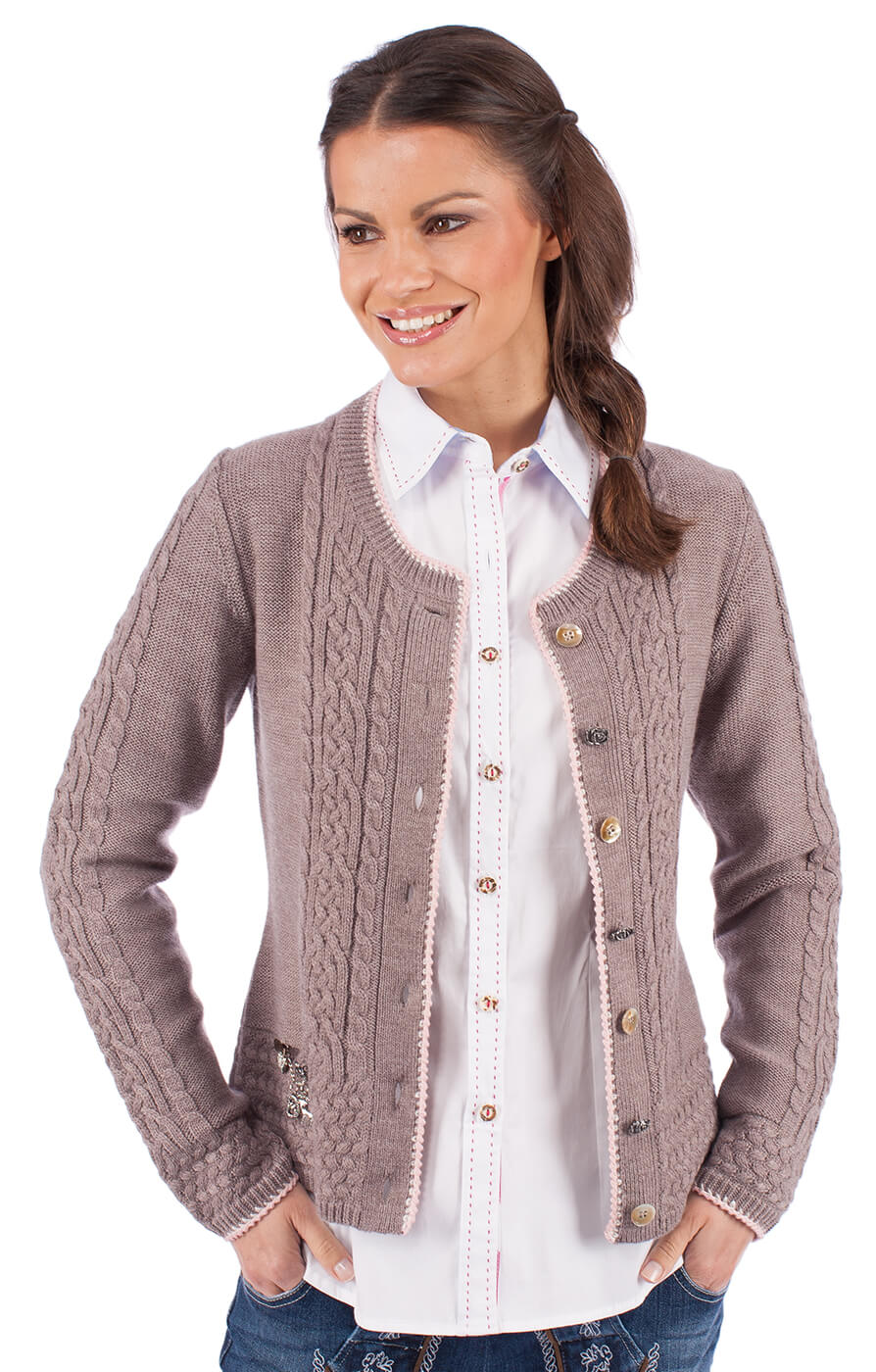 Giacca in maglia per Dirndl EFEU natura von Spieth & Wensky