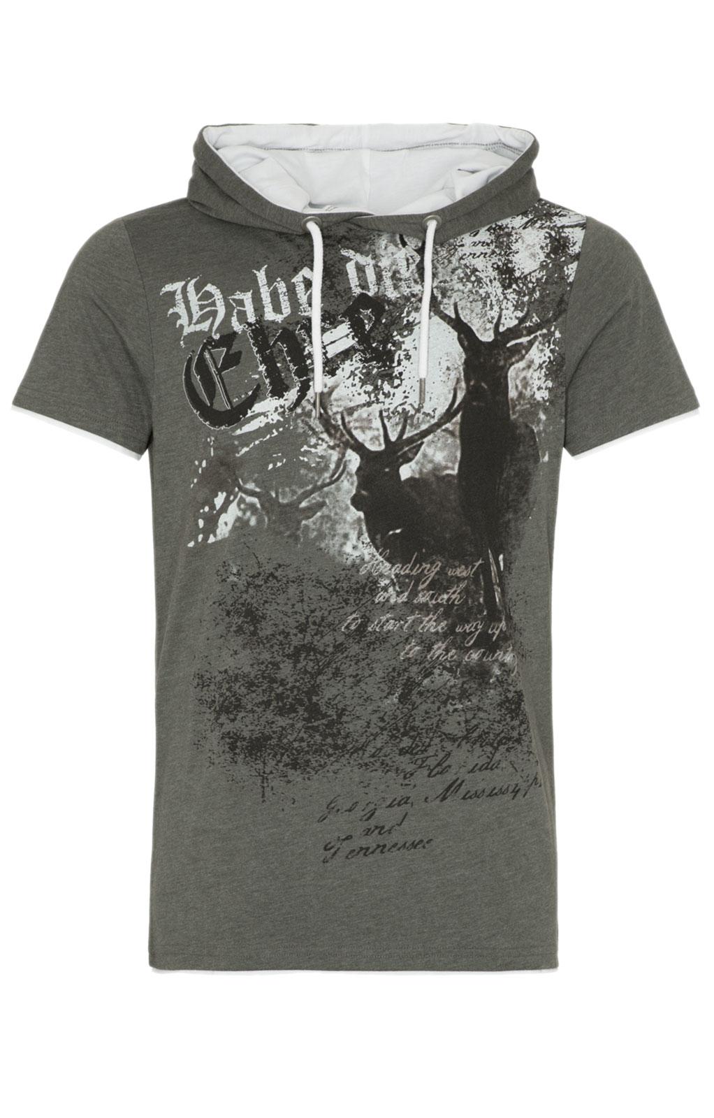 weitere Bilder von Trachten T-Shirt Hoody LENNOX dunkelgrün