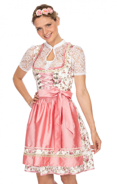 Mini Dirndl 2tlg. 55 cm ASTORIA rose