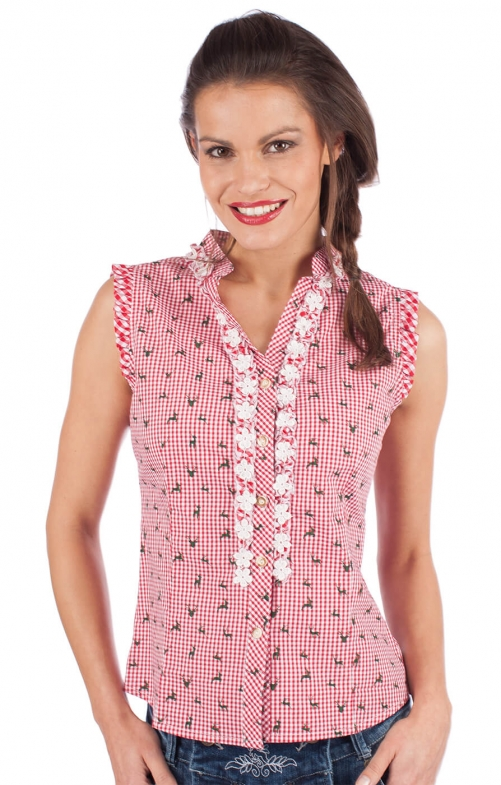 Trachten blouse BOBI-CO red