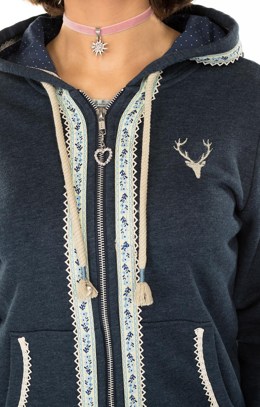 weitere Bilder von Trachten Jacket Hoodie dark blue