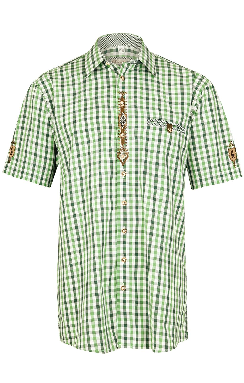 weitere Bilder von Klederdrachthemd korte mouwen groen