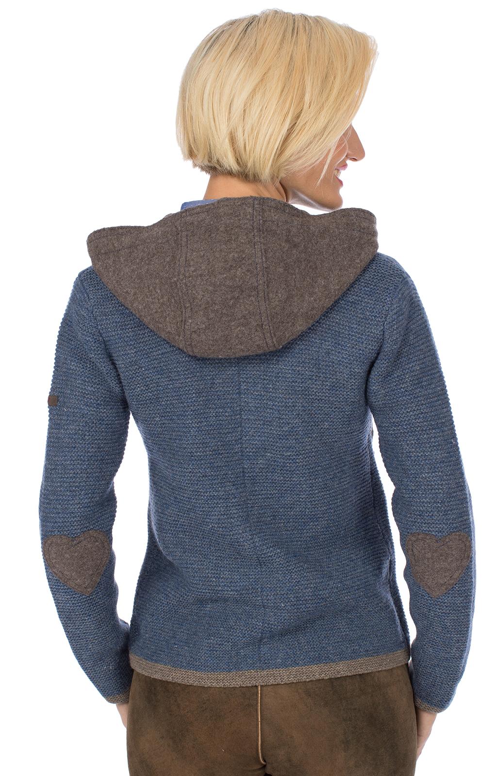 weitere Bilder von Traditional Cardigan HALLSTATT Hoodie jeans blue brown